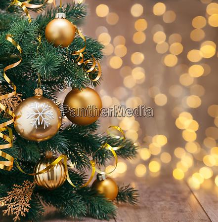 decoración, navideña, con, bolas, y, cintas. - 28784758