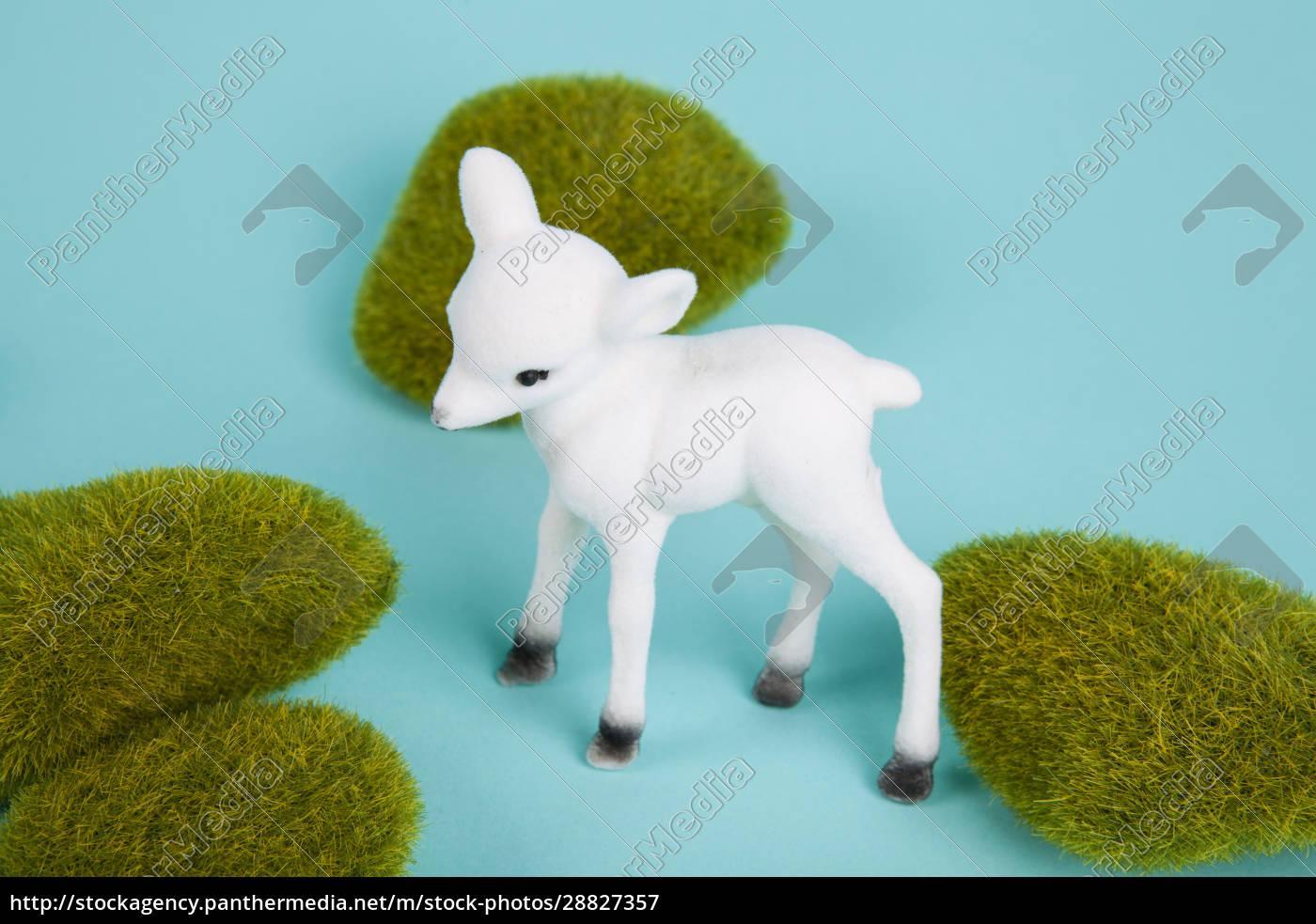 minimal, white, baby, deer, and, moss - 28827357