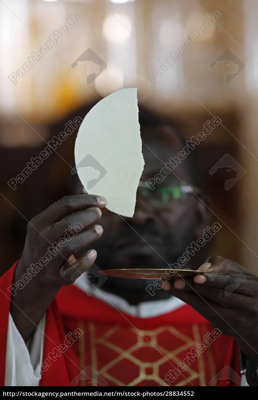 iglesia, africana, misa, católica, dominical, celebración, de, la - 28834552