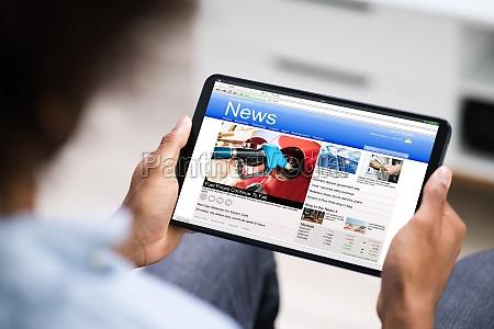 lectura de articulos de noticias electronicas