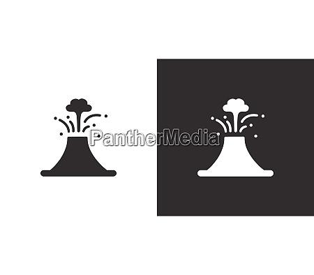 volcan icono aislado sobre fondo blanco