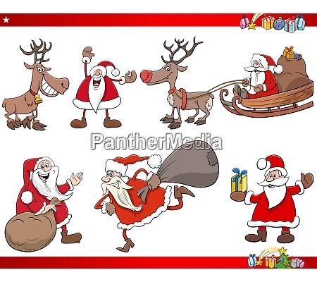 dibujos animados santa claus navidad fiestas
