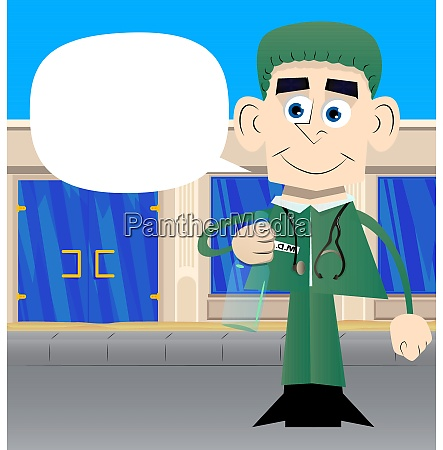 un doctor de dibujos animados que