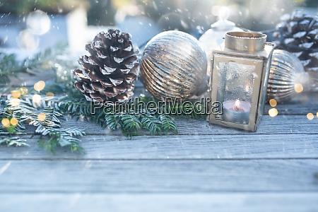 decoracion navidenya con copos de nieve