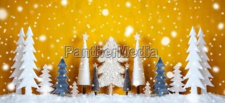 banner arboles de navidad copos de