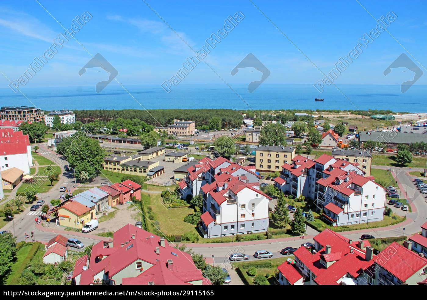 cityscape, of, wladyslawowo, town, from, above - 29115165