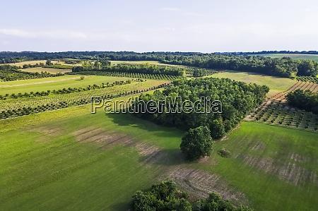 vista de drones del paisaje rural