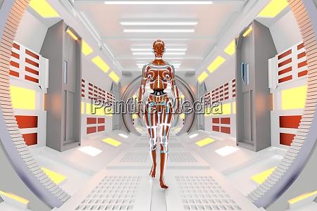 ilustracion renderizada en 3d de gynoids