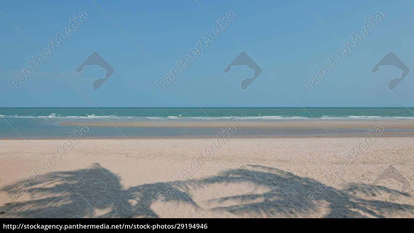 playa, marina, y, cielo, azul - 29194946