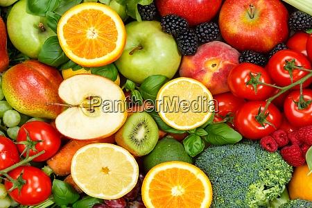 frutas y verduras de fondo de
