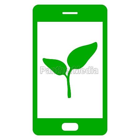 planta y smartphone