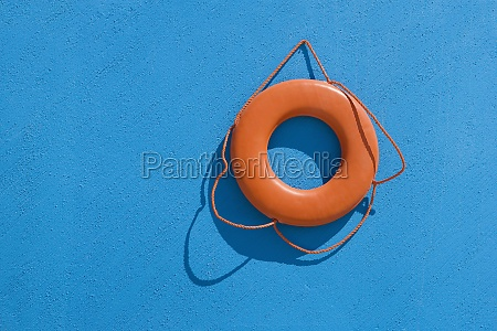 closeup de un cinturon salvavidas