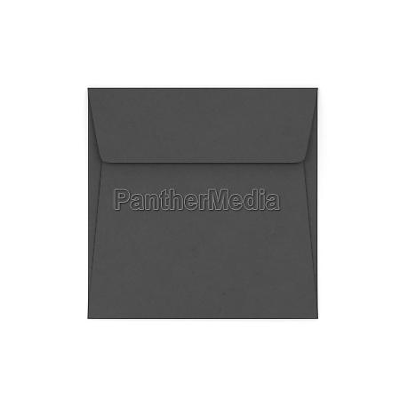 maqueta de sobre cuadrado de papel
