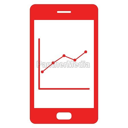 grafico y smartphone