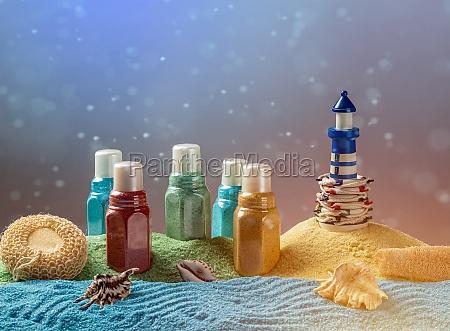 bodegón, de, sal, aromática, de, baño - 29682339