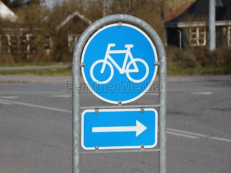 blue, right, turn, traffic, sign, for - 29746532