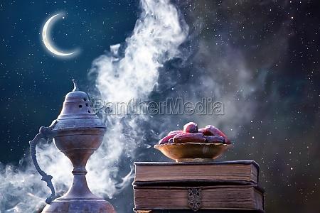 fondo kareem de ramadan con quaran