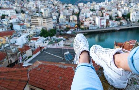 vista panoramica horizontal alto viajes sentada
