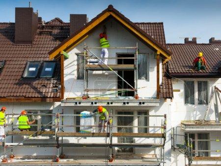 pintura, equipo, exterior., Riesgo, Protección, hombre - B18788089