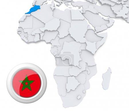 Contexto, bandera, mapa, África, Argelia, Egipto - B28738123