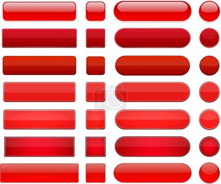 rojo, Grupo, vector, a rayas, ronda, antecedentes - B13991684